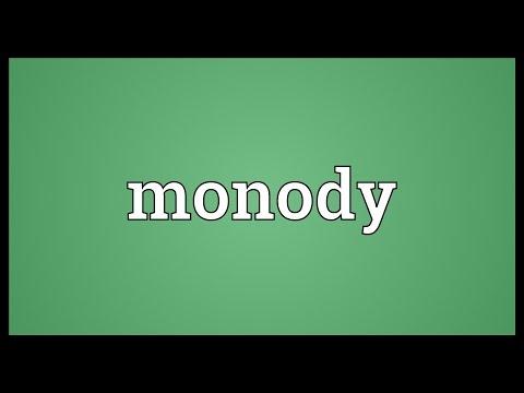 Header of monody