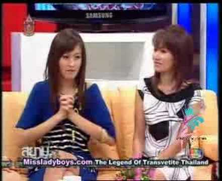 newhalf Nong Poy in TV thai talk show