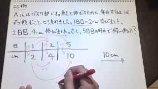 〜ノートムービー〜 小学校5年生の算数!牛乳でぐんぐん背が伸びる!(比例)
