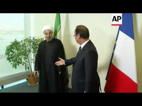 Iranian President Rouhani meets French counterpart Hollande