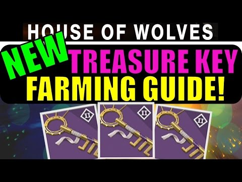 Destiny: NEW Treasure Key Farming Guide! | Post-Patch House of Wolves