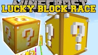 Minecraft: GIANT LUCKY BLOCK LUCKY BLOCK RACE - Lucky Block Mod - Modded Mini-Game