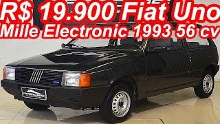 PASTORE R$ 19.900 Fiat Uno Mille Electronic 1993 aro 13 1.0 56 cv 8,2 mkgf 145 kmh 0-100 kmh 18,2 s
