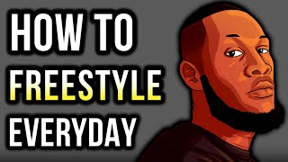 How To FREESTYLE RAP For BEGINNERS: 3 Quick Tips For Daily Practice