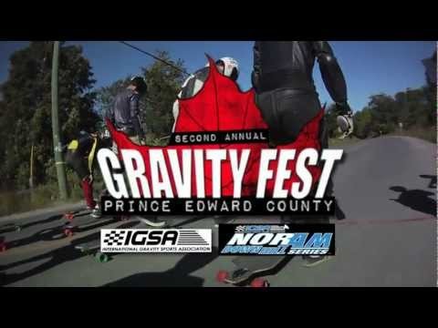 PEC Gravity Fest 2011 - A Helmet Cam Mix Mash Up - Downhill Longboard, Street Luge & Buttboard