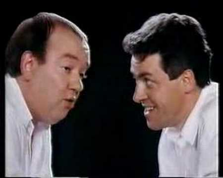 Mel smith and Griff Rhys Jones in an old commercial for the Nationwide Anglia Building Society.