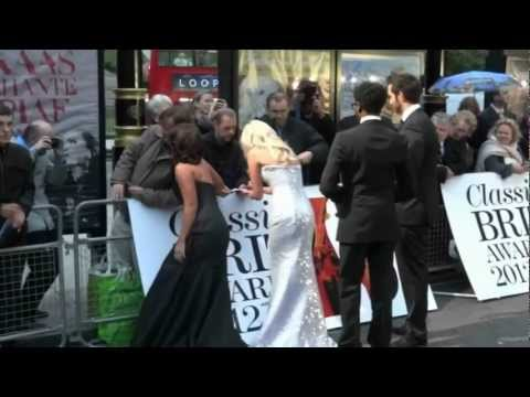 Artists arriving at the Classic Brit Awards 2012