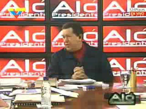Presidente Chávez insta a la guerrilla colombiana a manifestarse por la paz parte 1 de 2