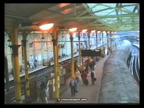 Metropolitan & Circle Line Underground and British Railways 'Thameslink' trains at Farringdon Station London, on Christmas Eve,1990.