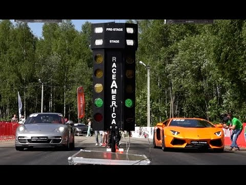 Porsche 911 Turbo vs Lamborghini Aventador vs Corvette ZR1 vs Audi RS7