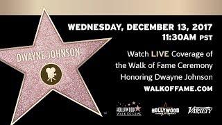 Dwayne Johnson - Hollywood Walk of Fame Ceremony - Live Stream