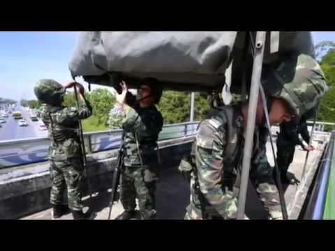 Thailand COUP d'etat as MILITARY seizes POWER   Thailand Coup Leaders Suspend Constitution HQ