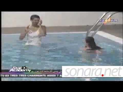ستار اكاديمي 8 - ليان واميمة ودقدوق في المسبح