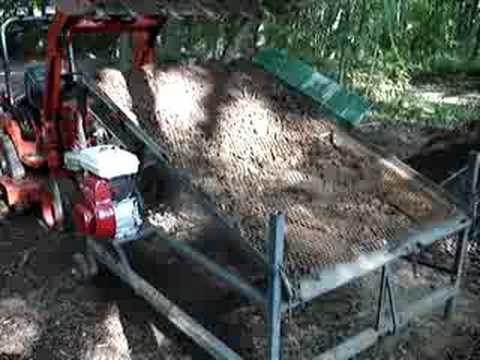 Dirt topsoil compost screener sifter youtube for Screened soil