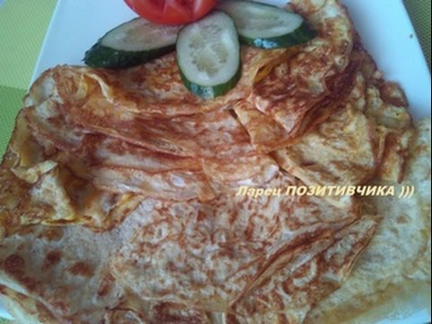 Яичные блинчики рецепт / Egg pancakes recipe / Das Pfannkuchen Rezept