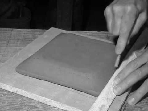 Make A Textured Square Clay Slab Plate Two Versions Youtube