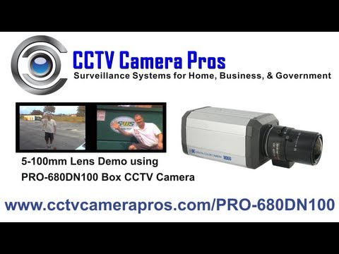 Box CCTV Camera with 5-100mm Varifocal Lens Video Demo
