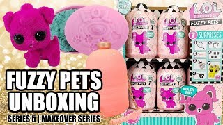 FIRST FULL UNBOXING! New LOL Surprise Series 5 FUZZY PETS | Opening L.O.L. Makeover Washable Pet