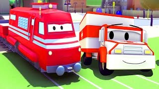 Troy The Train and the Ambulance in Car City| Cars & Trucks cartoon for children