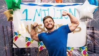 My Live Reaction To Hitting 1 Million Subs | BIG Giveaway & Leg Day