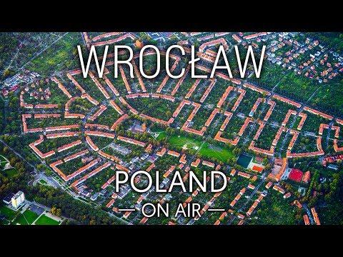 Wrocław z lotu ptaka o wschodzie słońca   POLAND ON AIR