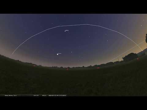 31.05.2018 Przelot stacji ISS nad Polską. (Symulacja)