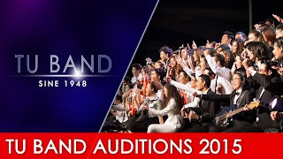 [Spot] TU BAND Auditions 2015