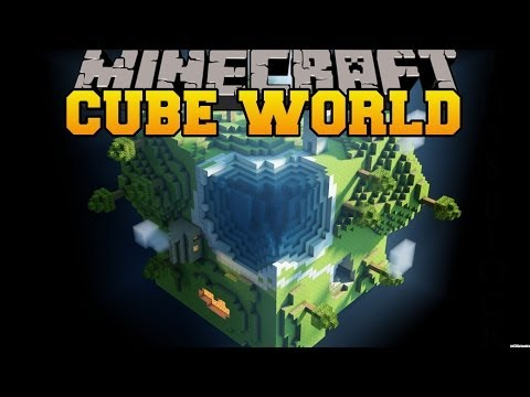 Minecraft: CUBE WORLD (SURVIVAL IN GIANT CUBES!) Mod Showcase