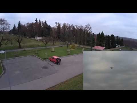 DJI Phantom F302 first flying with camera FC40. Český Brod z ptačí perspektivi. FPV