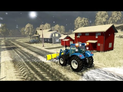 Bjornholm Snow Map in Farming Simulator 2015 Winter Snow Mod