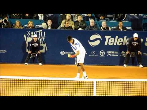 Novak Djokovic & Blaz Kavcic - ATP Belgrade - Serbia Open 2011