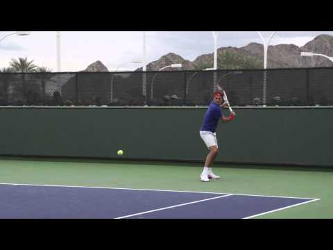 Roger Federer Backhand In Slow Motion