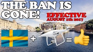 NEW DRONE LAWS IN SWEDEN - THIS YOU NEED TO KNOW IF YOU PLAN TO BRING YOUR DRONE HERE!