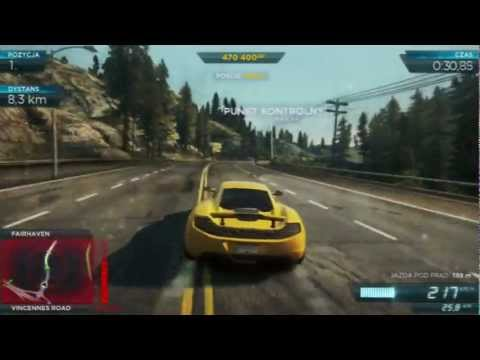 Need For Speed Most Wanted - gameplay - McLaren MP4-12C vs. Lexus LFA - gram.pl