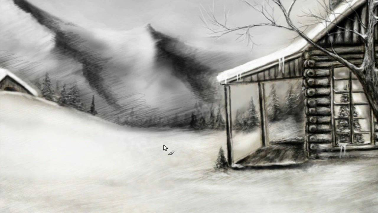 Winter Landscape Pencil Drawings