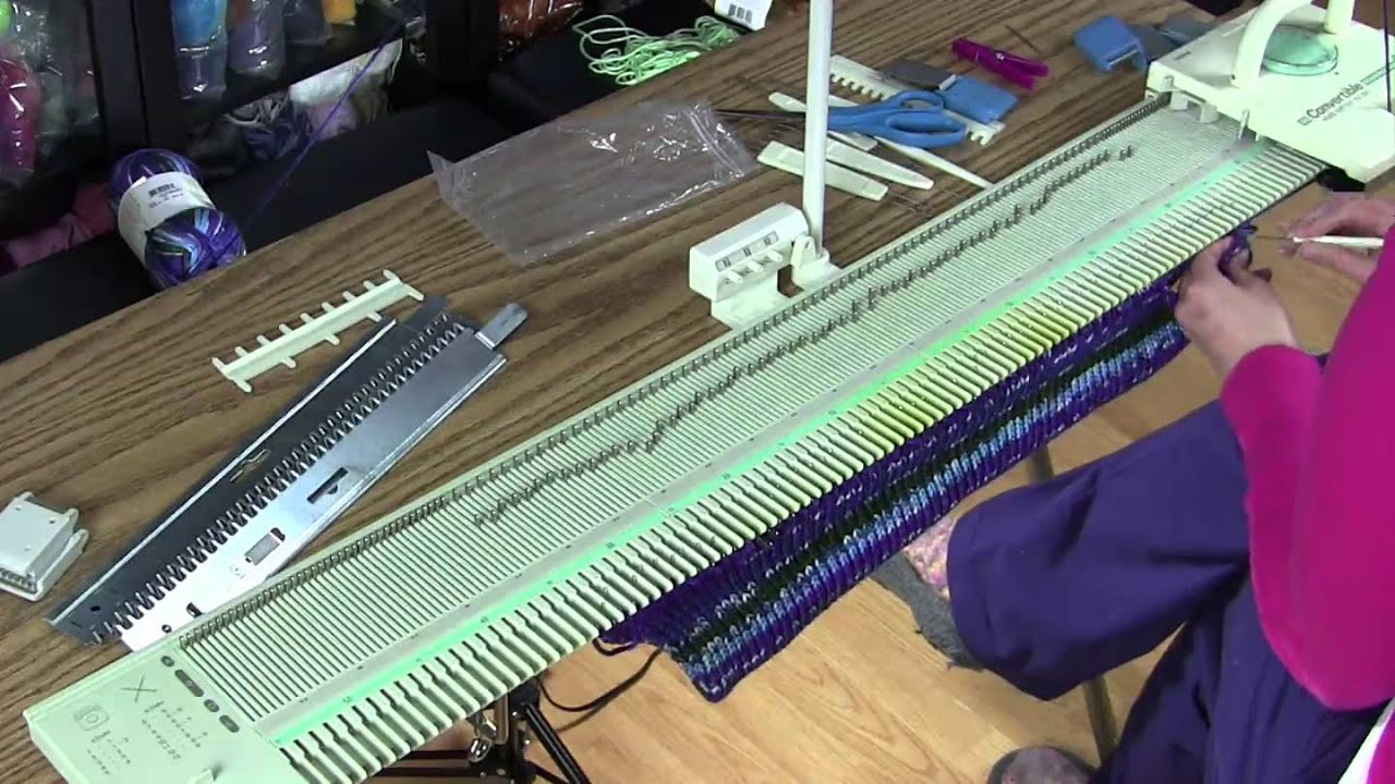Knitting Machine Tutorial : Machine knit charity hat tutorial knitting blooms