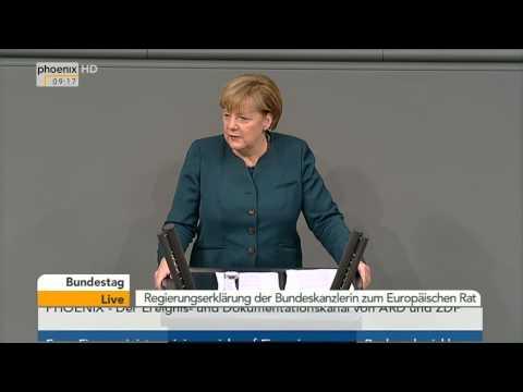 Bundestag - Regierungserklärung von Angela Merkel am 18.12.2013