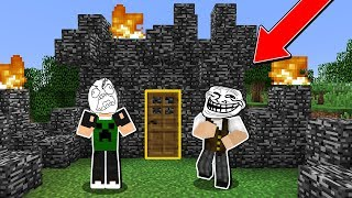 Minecraft Lendário #100: DESTRUÍ A CASA DO MEU AMIGO COM BEDROCK!