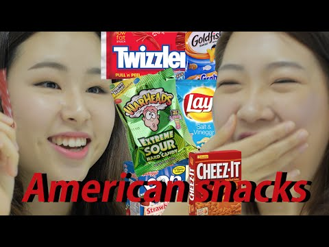 Korean Girls Taste American Snacks (eng Sub) video
