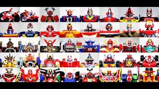 Super Sentai DX Mechas Goranger- Ninninger (1975-2015) スーパー戦隊 メカ ゴレンジャー-ニンニンジャー Robot ASMR