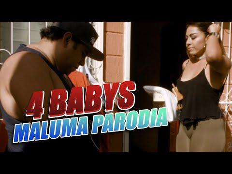 Maluma - Cuatro Babys (PARODIA/Parody) (Official Video) ft. Noriel, Bryant Myers, Juhn por JR INN #1