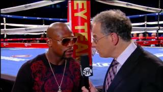Floyd Mayweather Breaks Silence on Pacquiao Fight - SHOWTIME Boxing