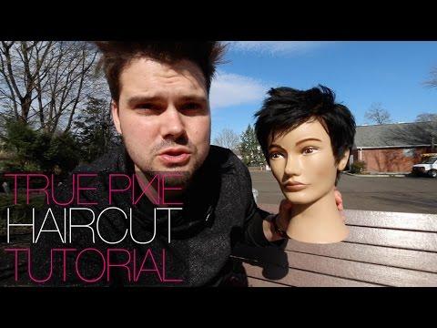 How To Cut A REAL PIXIE Haircut Tutorial - Womens Short Hair   MATT BECK VLOG 28 4-7-16