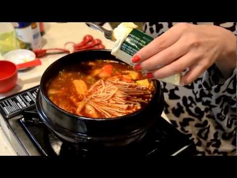 How to Cook Spicy Korean Beef & Seafood Extra Soft Tofu Soup ?????