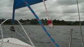 First Sail of Lintie, a Juno 560 Sailboat, at Carsington Water.