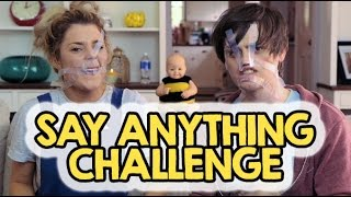 SAY ANYTHING CHALLENGE w/ CRABSTICKZ // Grace Helbig