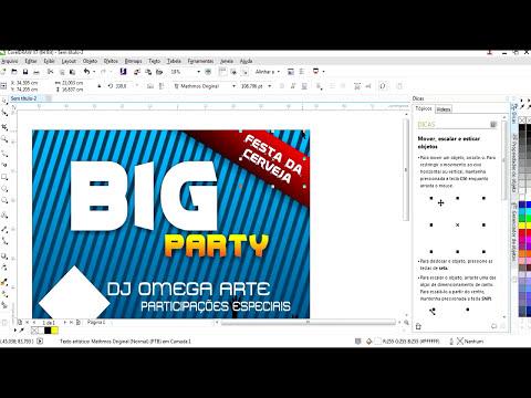 Como criar um banner/cartaz para festas no CorelDraw