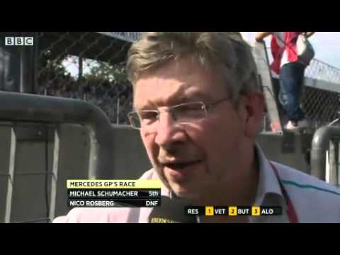 Ross Brawn On Michael Schumacher And Lewis Hamilton Battle.