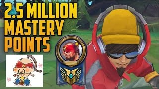 Gold Lee Sin 2,500,000 MASTERY POINTS- Spectate Highest Mastery Points on Lee Sin