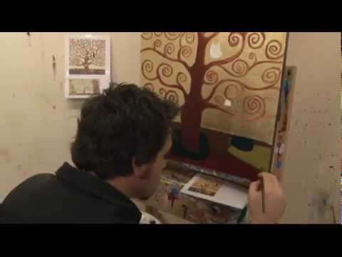Art Lesson: How to Paint a Gustav Klimt Gold Leaf Inspired Tree